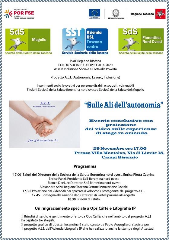 Il Programma dell'evento conclusivo a Villa Montalvo a Campi Bisenzio