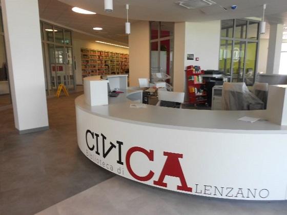 L'ingresso alla Biblioteca Civica di Calenzano