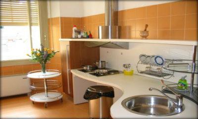 Interno di una abitazione, la cucina