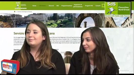 Le volontarie insieme alla giornalista durante l'intervista a Sesto Web.Tv
