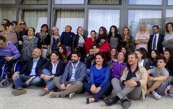 Foto di gruppo al Centro La Palma di Scandicci