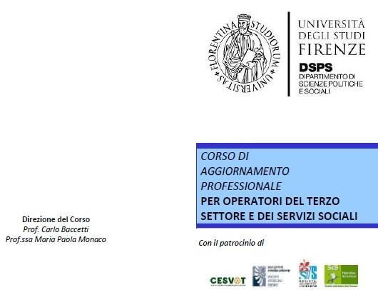 Il depliant informativo del Corso organizzato dall'Università di Firenze