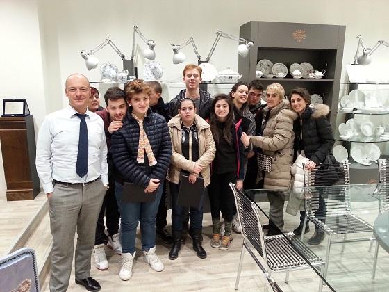 I ragazzi alla fabbrica Ginori di Sesto Fiorentino