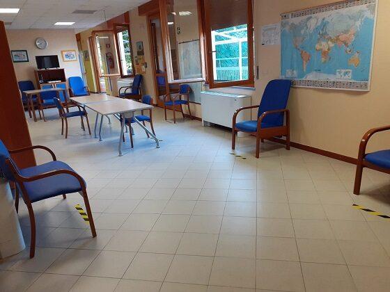Misure di distanziamento nel Centro Alzheimer Amaducci a Sesto Fiorentino