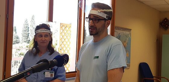 Due operatori del Centro Amaducci di Sesto Fiorentino